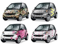 WOW...Check out these paint schemes!! Future Patterned Cars: Smart cars #smartforfun