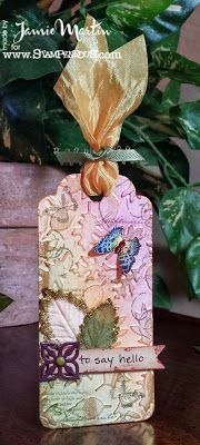 #StampThis!- Tag made with Stampendous stamps and Scrapbook Adhesives by 3L.