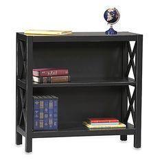 Anna 2-Shelf Bookcase in Black