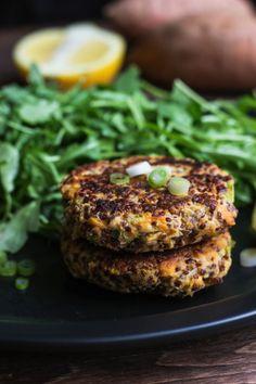 Sweet Potato Salmon Burgers with Quinoa
