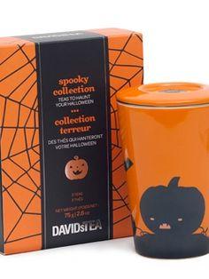 Gagnez la collection terreur et la tasse Halloween de David's Tea | Clin d'oeil Davids Tea, Herbal Tea, Tea Time, Herbalism, Cups, Coffee, Halloween, How To Make, Collection