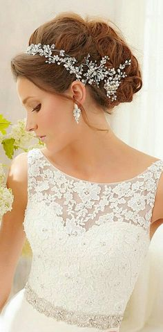 Wedding tiara dress Find More Beautiful Wedding Dress at http://Nadhaweddingfashion.com