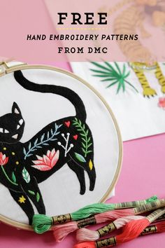Free hand embroidery patterns available through DMC #embroidery #embroiderypatterns #dmc