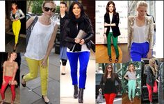 Colored Pants are in for Spring 2014!