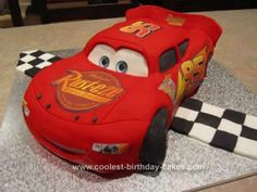 Homemade Lightning McQueen Cake: Firstly, you shouldn't be listening to any advice I give. I don't make cakes as such. I'm a 30 year old Australian Dad, who just makes his kids their cakes.
