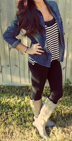Stripes and Denim styled by Monica's Notebook