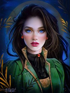 f Druid noble Lt Armor Cloak portrait Jungle Deciduous forest hills Hildyr Chevalier by elymiart lg Fantasy Women, Fantasy Girl, Fantasy Princess, Fantasy Inspiration, Character Inspiration, Character Portraits, Character Art, Digital Art Girl, Anime Art Girl