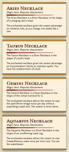 Probably Over the Top RPG Ideas — morseths-spellbook:  First magic items I've posted...