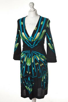 Jedwabna wzorzysta sukienka Diane von #Furstenberg 203,00 PLN #wzorcownia, #topbrands, #highfashion, #dress, #woman