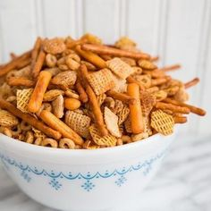 Classic Homemade Nuts and Bolts recipe! This holiday favourite is the #1 snack in our house come Christmas and I'm thrilled to share my family recipe!
