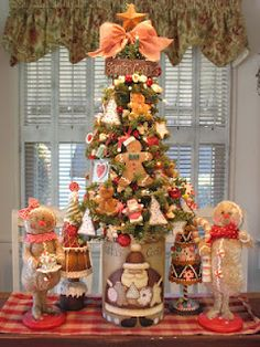 country creations by denise love the gingerbread theme cute gingerbread christmas tree christmas - Gingerbread Christmas Tree Decorations