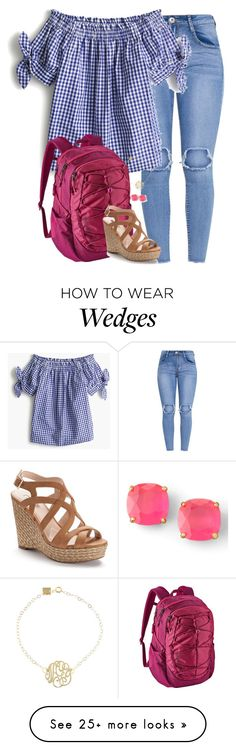 """""""Back to school bash tomorrow!!!!!"""" by amberfmillard-1 on Polyvore featuring J.Crew, Patagonia, Jennifer Lopez, Ginette NY and Kate Spade"""