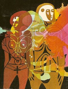Cover art for Bob Shaw's book One Million Tomorrows by Leo and Diane Dillon, 1970