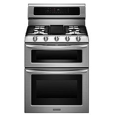 """Kitchen Aid 30"""" Double Convection Oven with gas burners and griddle/grate.    $2045 at Sears"""