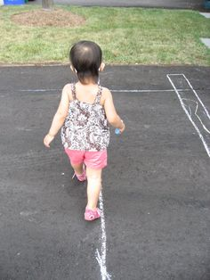 Simple Summer Fun: Walk the Line, baby! from The Montessori Motherload