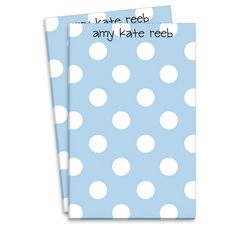 Blue Polka Dot Notepads