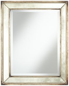 "Uttermost Parapet 29"" High Antique Glass Wall Mirror 