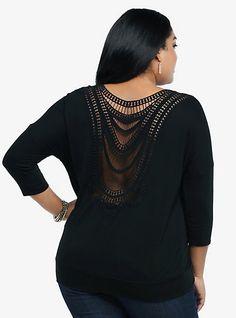 Lattice Lace Back Pullover | Torrid