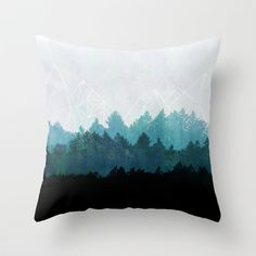 Woods Abstract  Throw Pillow by Mareike Böhmer Graphics | Society6