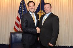 Barry Donadio and Senator Marco Rubio at the National Press Club on May 13th 2014