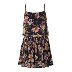 pleated floral dress teen ❤ liked on Polyvore featuring vestidos