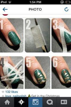 3 Easy Christmas Nail Designs!
