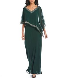 Adrianna Papell Illusion V-Neck Beaded Sequin Side Slit Gown Mother Of Bride Outfits, Mother Of The Bride Gown, Mother Of Groom Dresses, Mothers Dresses, Hijab Evening Dress, Evening Dresses, Abaya Fashion, Fashion Dresses, Grooms Mom Dress