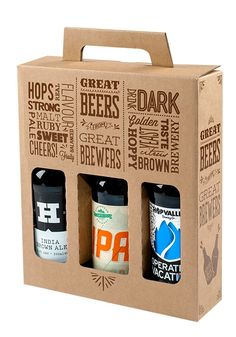 Custom wine bottle boxes packaging with your own company logo. Bottle packaging boxes in all sizes, shapes. Our minimum order is 50 custom boxes. Kraft Box Packaging, Custom Packaging Boxes, Beverage Packaging, Bottle Packaging, Custom Bottles, Bottle Box, Beer Gifts, Bottle Design, Gifts