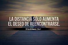 La distancia sólo aumenta el deseo de reencontrarse