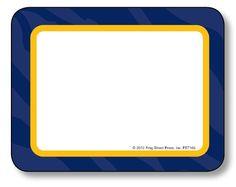 Navy Sassy Animal Labels, TCR70165