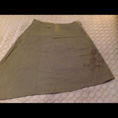 Cute a-line skirt Olive green skirt with diagonal hem. Comfy and cute for summer Skirts Asymmetrical