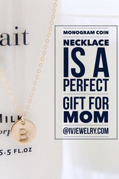 Monogram Coin necklaces are best sellers for good reason! Irina personally hand stamps each charm. It's a perfect gift for any mom and additional charms can be added! | shop it at Irina Victoria Jewelry.