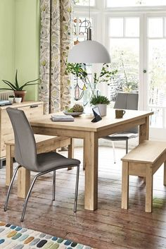 Buy Bronx Light Dining Table And Bench Set from the Next UK online shop Furniture, Dining, Rectangle Dining Table, Dining Table, Table, Small Sideboard, Dining Room Style, Table And Bench Set, Furniture Finishes