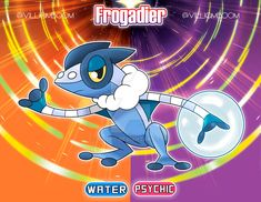 Frogadier in alola! by villi-c on DeviantArt Solgaleo Pokemon, Pokemon Fusion Art, Pokemon Pokedex, Black Pokemon, Pikachu, Blue Jurassic World, Satoshi Pokemon, Mew And Mewtwo, Hedgehog Art