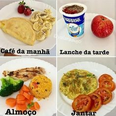 ⬇️ Perca de 3 a em com Low Carb ⬇️ – fitness meal prep Healthy Menu, Healthy Eating, Fitness Meal Prep, Diet Recipes, Healthy Recipes, Nutrition, Love Food, Food And Drink, Low Carb