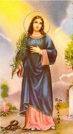 Saint Agatha the Patron Saint of Nurses