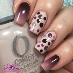 Combine nail art techniques of sponging and dotting to come up with this amazing nail art. Check out the how to and be inspired by this creative design for your next manicure.