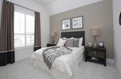 brown and beige bedroom guest