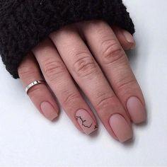 Nail Shapes - My Cool Nail Designs Manicure Colors, Manicure E Pedicure, Nail Polish Colors, Minimalist Nails, Nude Nails, My Nails, Dip Gel Nails, Nail Deco, Plaid Nails