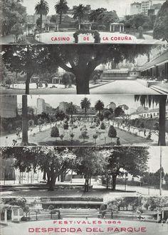 1964_Festivales 1964, despedida del Parque, Casino de La Coruña Cgi, Times Square, Plaza, Travel, City, Historia, Vintage Photos, Good Photos, The Neighborhood