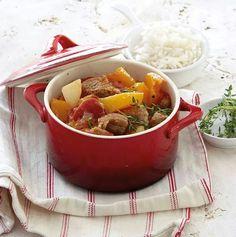 Pork and pumpkin stew