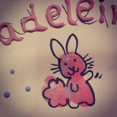 So cute fingerprint bunny