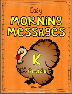 Phonics, Spelling: Morning Message - NOVEMBER - Kindergarten - Kindergarten Morning Messages with an October theme are a great way to teach spelling and phonics! This packet includes the following topics: Mayflower, pilgrims, Native Americans, turkey, Veterans Day, Skill include: *Beginning sounds *Middle sounds *Ending sounds *Punctuation marks *Blends *Rhyming words *Spelling *Letter format #phonics #morningmessage #spelling $
