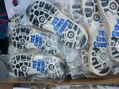 Cookies for the cross country team from Mkj Cookies.