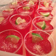 MixMixMix: Strawberry Margarita Jello Shots