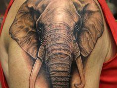 nice Elephant Head Tattoo Design - Stylendesigns.com!