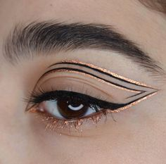 eyeliner styles for big eyes ; eyeliner styles for hooded eyes ; eyeliner styles simple step by step ; eyeliner styles different Makeup Eye Looks, Eye Makeup Art, Cute Makeup, Pretty Makeup, Eyeshadow Makeup, Beauty Makeup, Makeup Goals, Art Deco Makeup, Doll Eye Makeup