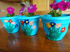 Little Stars Learning: Mother's Day Handprint Flower Pots