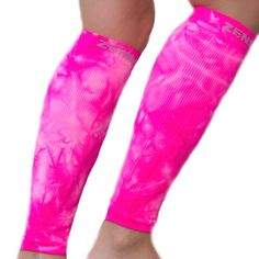 Tie dye neon pink compression leg sleeves--I have these!!