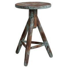 This solid wood stool is perfect pulled up to your breakfast table or arranged around your coffee table for extra guest seating. With its distressed finish, ...